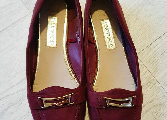 🌕Atmosphere burgundy loafers. Size 4/37