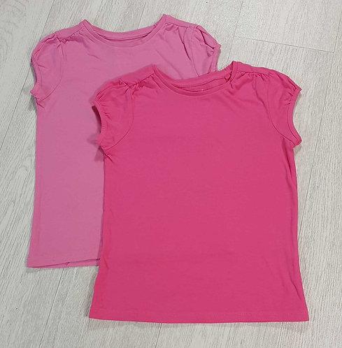 💗Tu set of 2 pink t-shirts. 5yrs