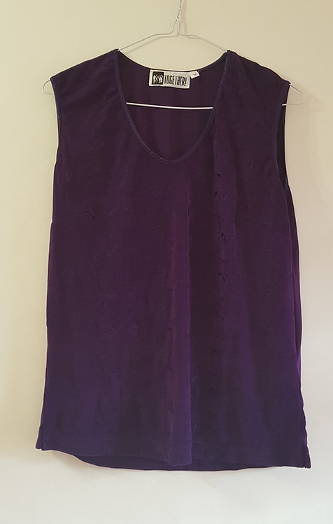 TOGETHER Deep purple top size 12