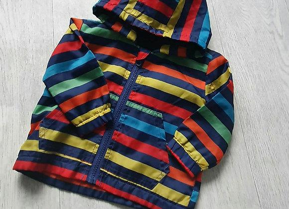 F&F striped rain coat. 6-9m