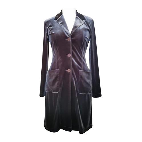 Aan'ge Paris grey velvet jacket dress. Suggested size uk 12