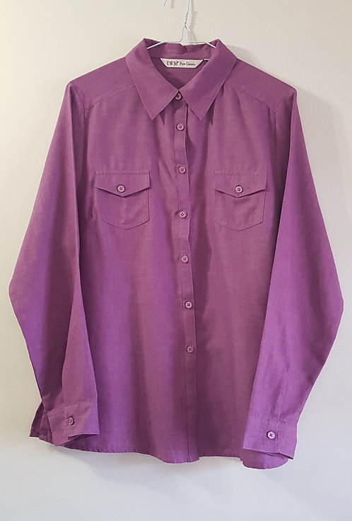EDINBURGH WOOLLEN MILL Purple shirt. Size 16 NWOT