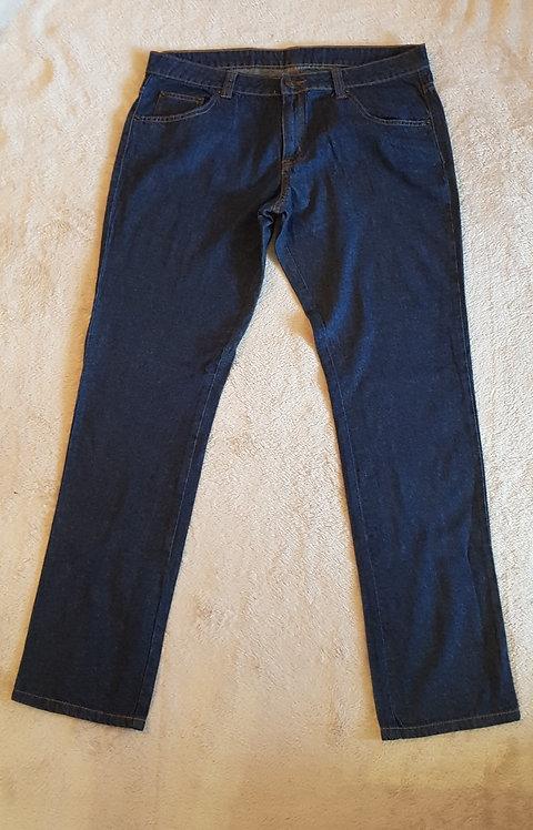 F&F straight leg dark rinse jeans. Long. Size 14.