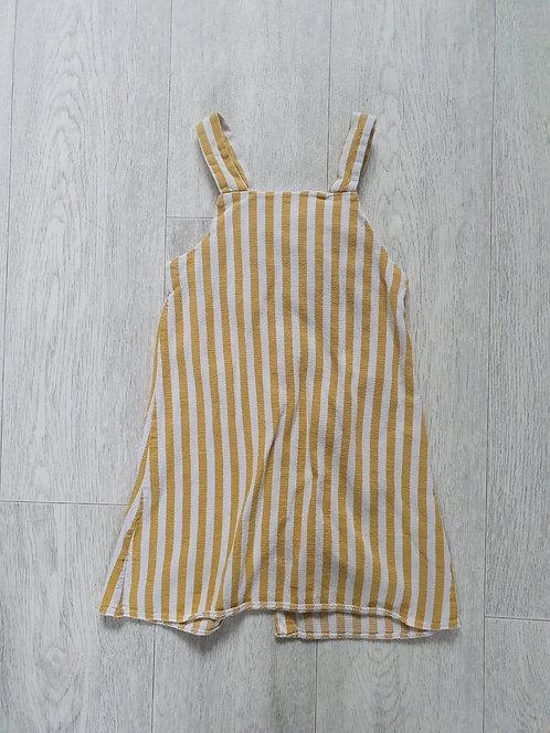 F&F striped pinafore dress. 3-4yrs