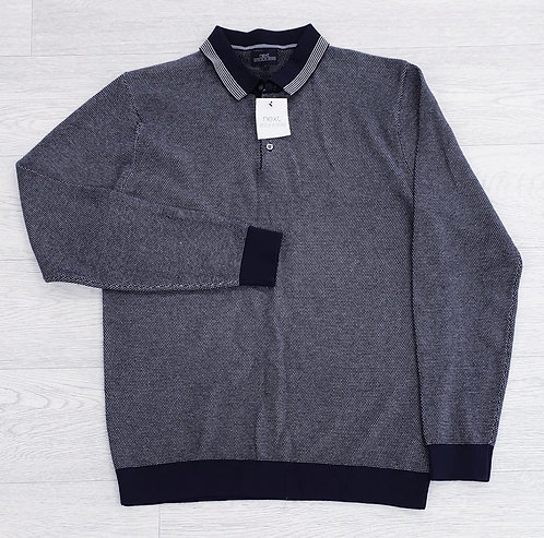 🌑Next long-sleeve collared top. Size L NWT
