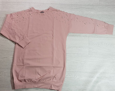 MissyEmpire peace sweatshirt with pearl detail. Size 10