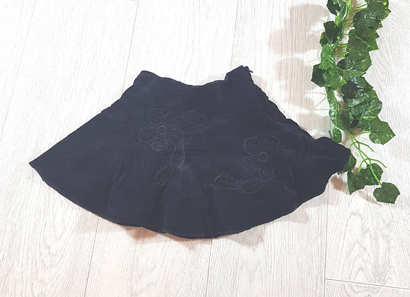 🐠Early days girls black velour floral skirt size 6 / 12 months