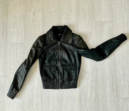 🌗Asos leather look jacket. Size 8