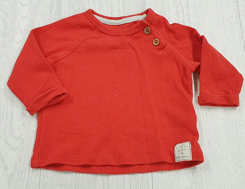 M&S red top. 3-6m