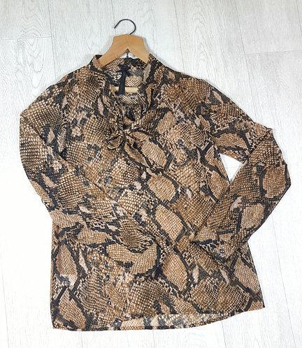 🔷️Next snakeskin chiffon shirt with buttoned cuffs size 10