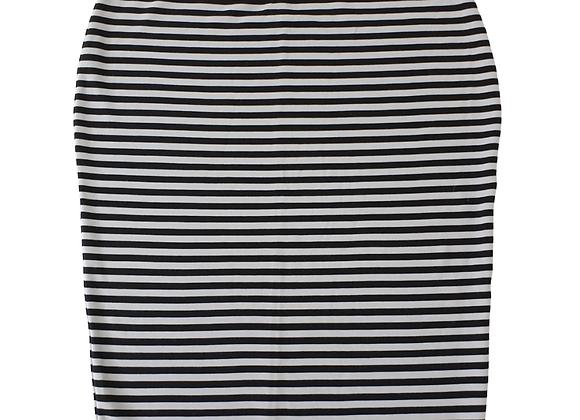 Dunnes black/white striped pencil skirt. Uk 18 NWT