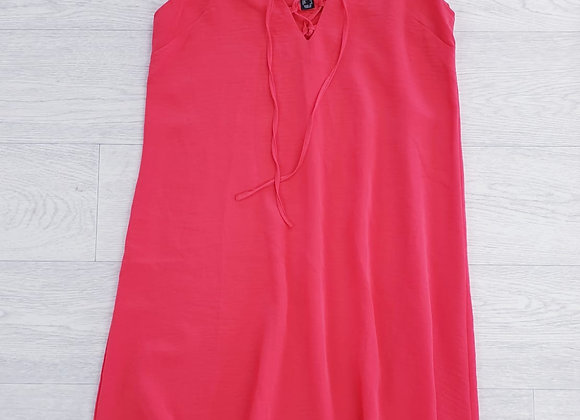 Atmosphere bright coral strappy cami dress. Size 12
