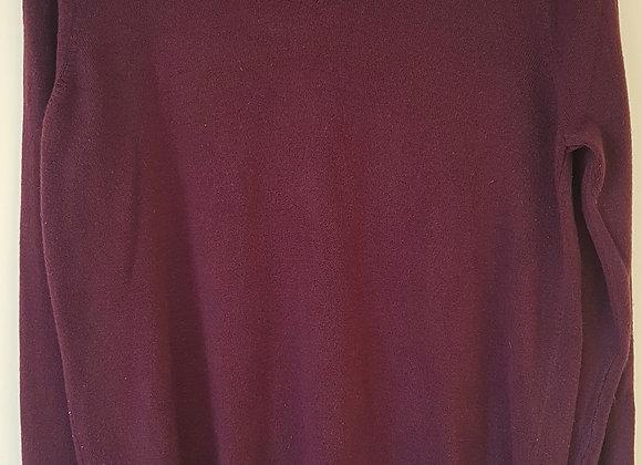 BHS. Aubergine v-neck sweater. 100% acrylic. Size 16.