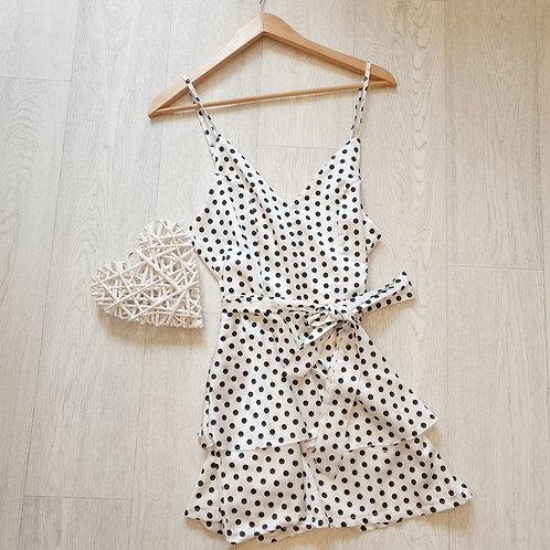 🏵I Saw It First white polka dot plasuit. Size 10 NWT