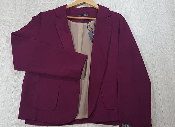 🦄Atmosphere burgundy chiffon blazer size 16 (NWT)