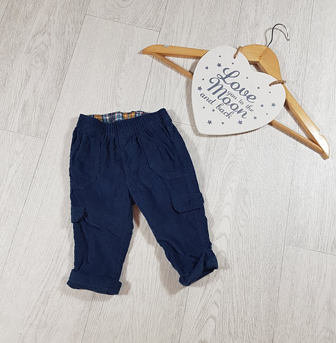 🐠Mothercare boys navy stretchy waist trousers size 3-6 months