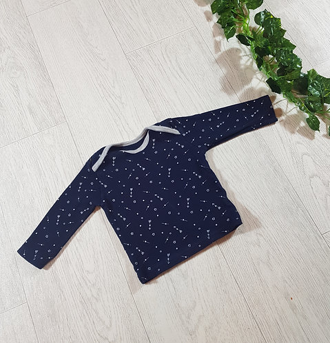 🐠Matalan boys navy Arrows and stars top size 3 / 6 months