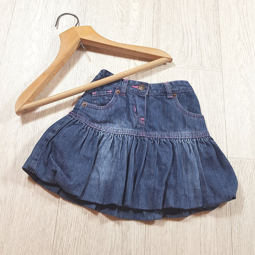 🌈Mothercare girls denim puffball skirt with pockets size 12-18 months