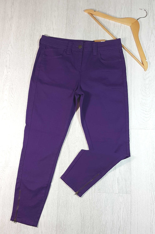 ◽M&S purple ankle grazer skinny jeans with zip ankles. Size 12. New with tags