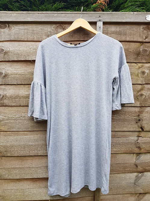 🔷️Atmosphere grey top dress with flared short sleeves size 10