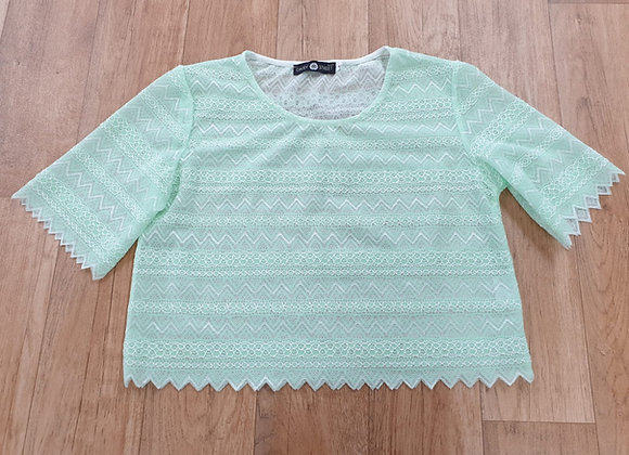 Daisy Street green lace top. Size S NWOT