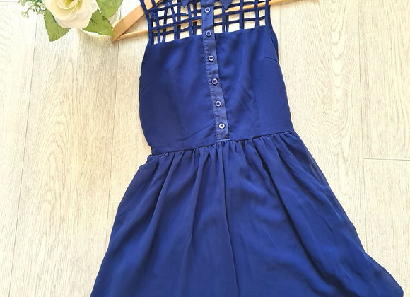💐Blue dress with net top. Size 6