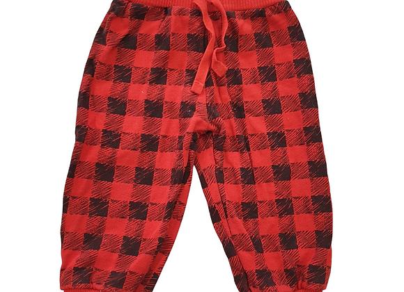 Adams red/black trousers. 6-9m