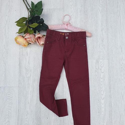⭐Denim Co burgundy slim fit jeans. 6-7yrs
