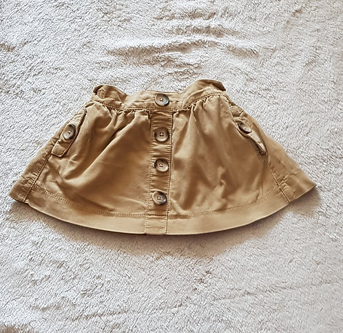NEXT Brown chord skirt. 100% cotton 18-24m KEEP AWAY FROM FIRE
