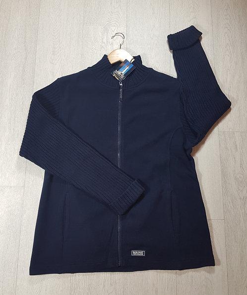 🦄Debenhams navy blue jacket with jumper sleeves size 16 (NWT)