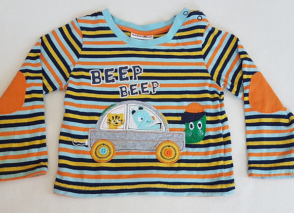 BABIES R US. Multi coloured long sleeve top. Size 12-18 months.