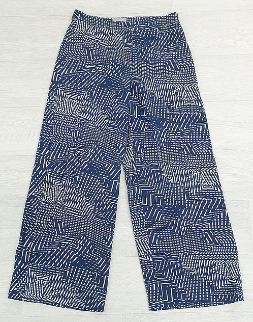 Pure Collection blue mix wide leg trousers. Uk 8 / US 2 / Eu 34