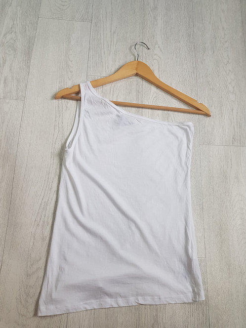 🔷️Newlook one shoulder white vest top size 10