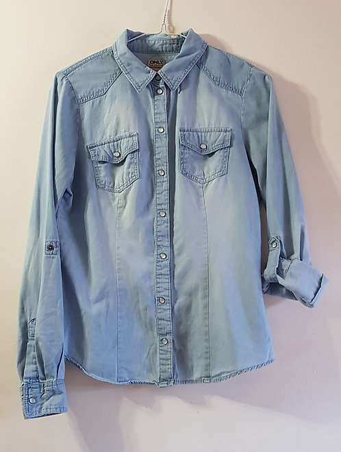 ONLY Denim shirt with roll up sleeves. Size 36