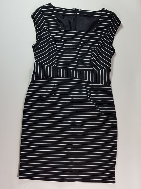 BHS black striped dress. Size 16