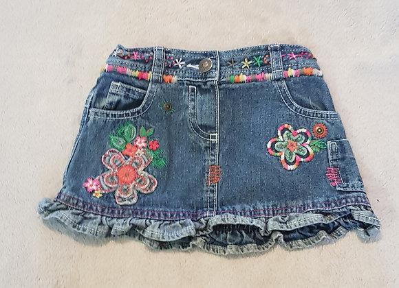 Cherokee. Denim skirt. 6-9 months.