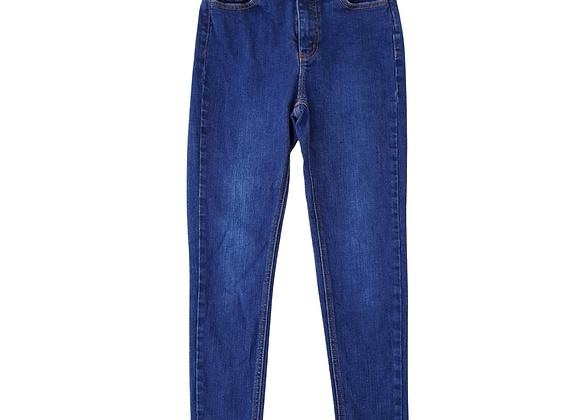 Mo & Co Blue denim skinny jeans. Uk 8