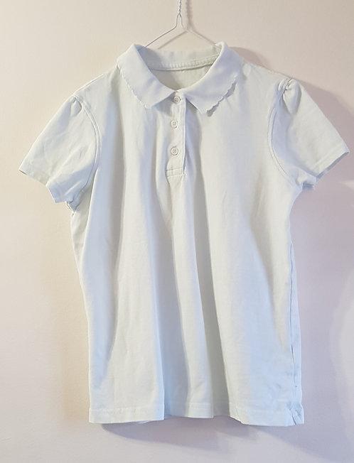 George. White school polo shirt. Age 10-11yrs.