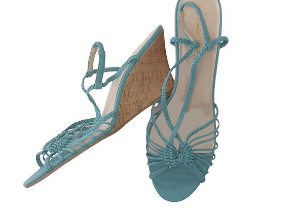 Emilio Luca bluebell wedge sandals. UK 8 NWT