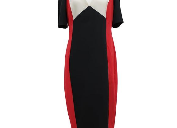 Asos black, red & white dress. Uk 16