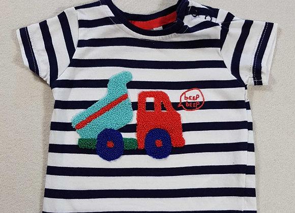 ◾Bluezoo striped tshirt 3-6months