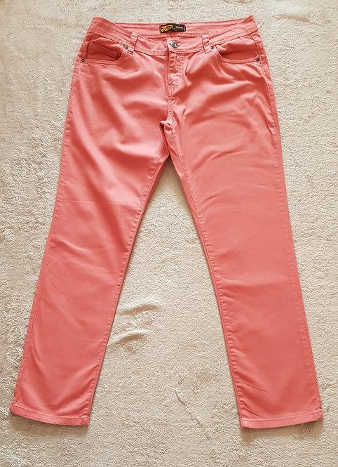 24/7 AUTHENTIC DENIM Peach skinny jeans. Size 14