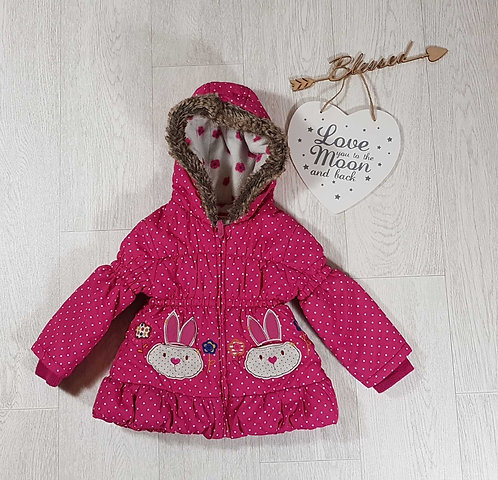 ◾Tu pink quilted coat. 1.5-2yrs
