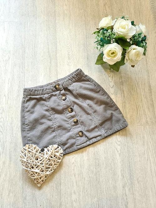 💐Denim Co beige chord skirt. Size 10