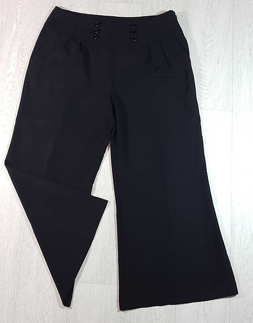 ◾South black bootcut trousers. Size 18short