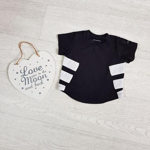 Adidas black t-shirt 0-3m