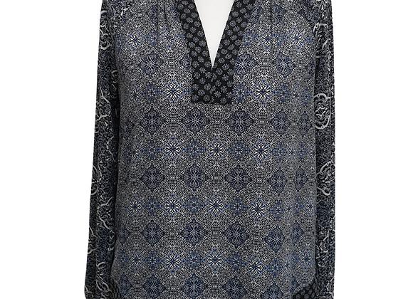 Blue mix blouse.
