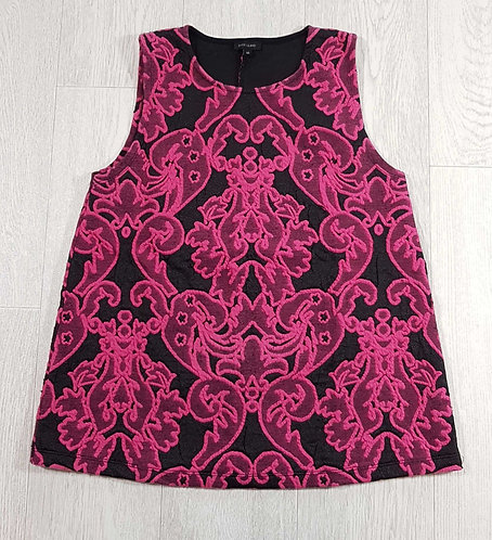 ◾River Island black and pink top. Size 10