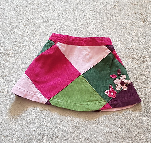 Mini Mode. Chord skirt with elasticated waist. 0-3 months. 14.3lbs