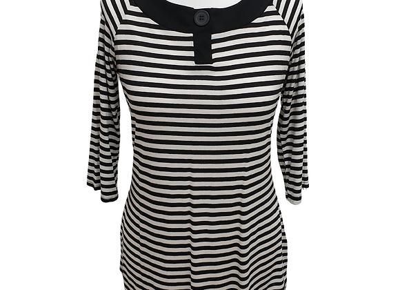 CMD black/white striped top.